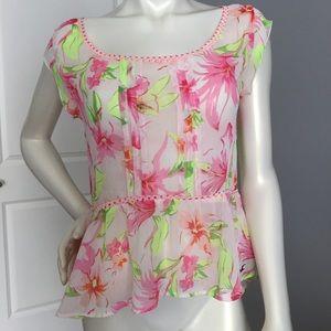 Hollister sheer floral top. Ladies S🌹
